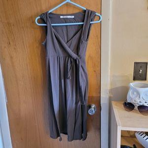Athleta brown twisted dress